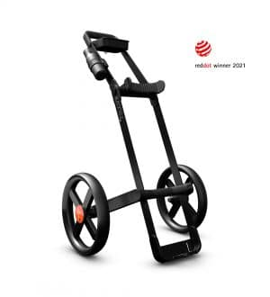Kaddey Switch Golf Trolley - Black Feature Image Red Dot Winner