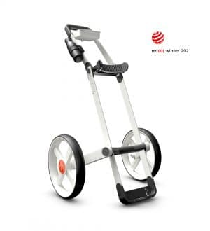 Kaddey Switch Golf Trolley - White Feature Image Red Dot Winner